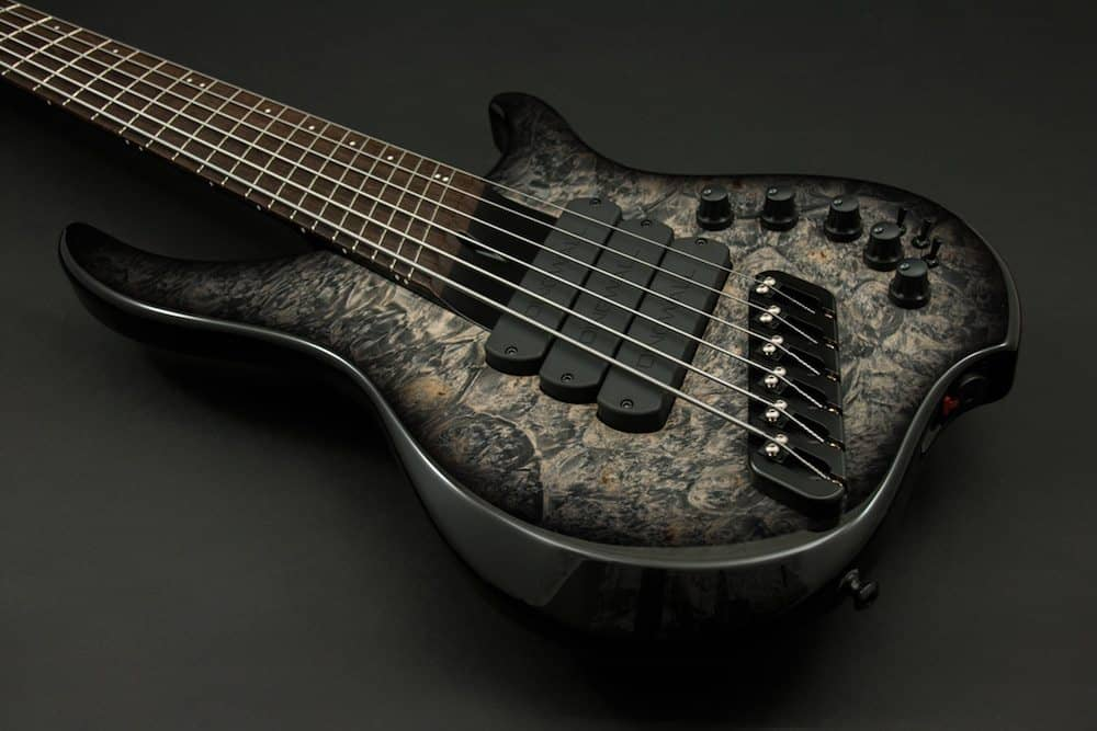 ABI 3x Charcoal burst over Maple Burl body