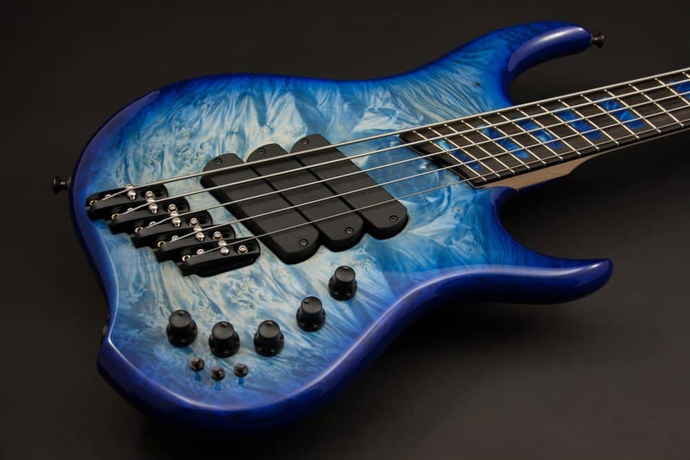 Z 3x 5 bleached dyed Natural to Indigo burlburst body